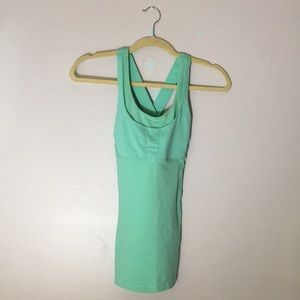 Lululemon mint green cross back